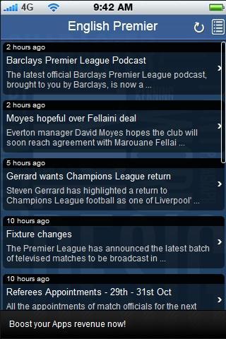 Premier League Fan App