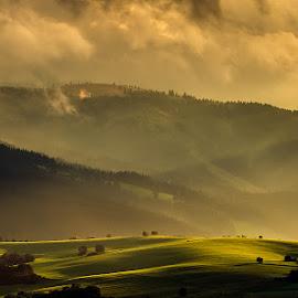 After the rain by Martin Sprušanský - Landscapes Prairies, Meadows & Fields ( clouds, liptov country, landscape, slovakia, rain )