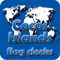 Cocos Islands flag clocks icon