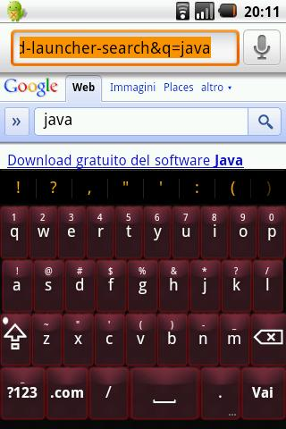 Red Glass Keyboard Skin