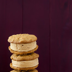 Pumpkin and Salted Caramel Ice Cream Sandwiches