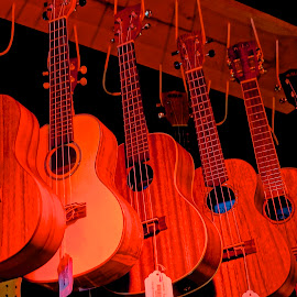 Glowing Guitars by Barbara Brock - Artistic Objects Musical Instruments ( music, string instruments, musical instruments, guitars )