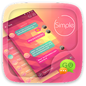 Free (FREE) GO SMS SIMPLE THEME APK for Windows 8