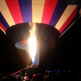Balloon and Fire. by Lauri Miller - Transportation Other