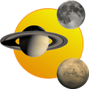 Sun, moon and planets mobile app icon