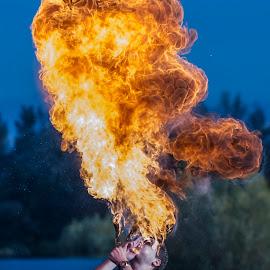 fire by Krešo Maslać - People Musicians & Entertainers