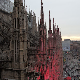 Duomo in Milano by Pipia Kanjeva - Buildings & Architecture Public & Historical ( #milano #duomo #italy #evening #sunset,  )