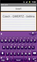 Screenshot of SlideIT Czech QWERTZ Pack