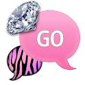 GO SMS - ZebraPastelDiamonds5 icon
