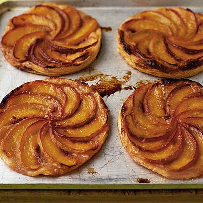 Squashed Peach & Almond Tarts