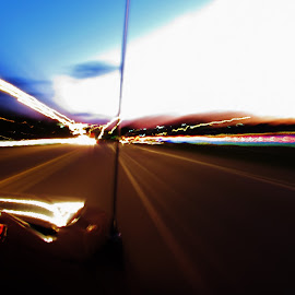 hendersonville rush by Jesse Kilmon - Abstract Light Painting