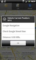Screenshot of Car Finder and location notes