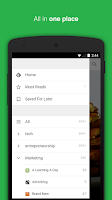 Screenshot of Feedly. Your news reader.