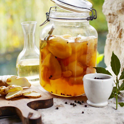 Ginger-spiced Pears