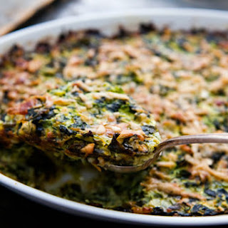 Zucchini and Spinach Gratin