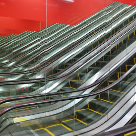 Escalators  by Koh Chip Whye - Buildings & Architecture Other Interior (  )