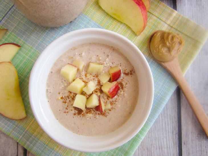 Peanut Butter Apple Pie Overnight Oats Recept | Yummly