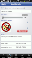 Screenshot of The Habit Factor® Goals,Habits