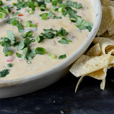 Spicy Beer Queso with Chorizo and Black Beans