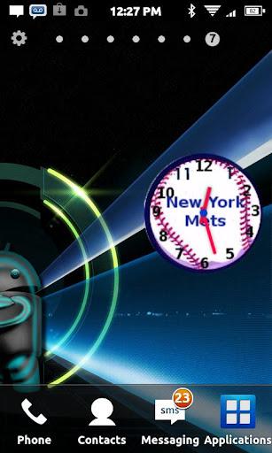 NY METS Anolog Clock Widget