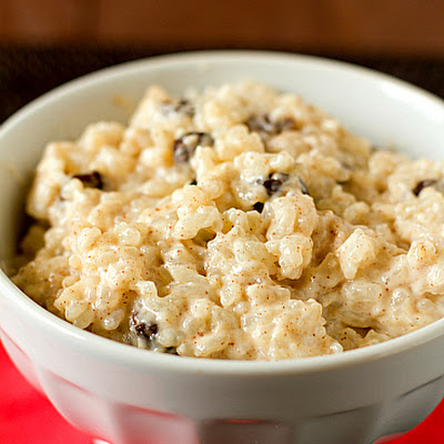 Cinnamon-Sugar Rice Pudding with Bourbon-Soaked Raisins