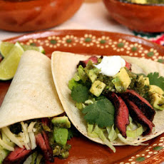 Chile-Rubbed Skirt Steak Tacos
