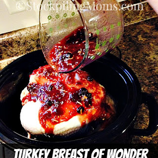 Crockpot Freezer: Cranberry Turkey Breast