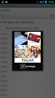 Screenshot of 4 fotos 1 palabra SOLUCIONES