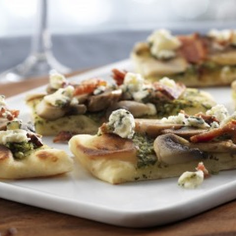 Blue Cheese,Pesto & Mushroom Appetizer