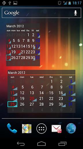 カレンダーウィジェット祝Plus