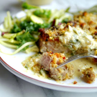 Parmesan Crusted Pork Chops with Buttermilk-Sage Gravy