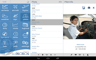 Screenshot of mccPILOTLOG