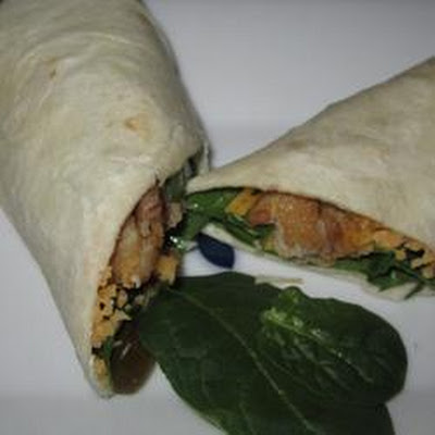 Baked Tofu Spinach Wrap