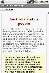 Australian Citizenship Test - screenshot