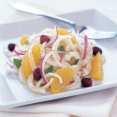 Sicilian Fennel and Orange Salad with Red Onion and Mint