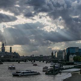 London River Thames  by Vincent Rowley - City,  Street & Park  Skylines ( urban, skyline, london, cityscape, river thames, Urban, City, Lifestyle )
