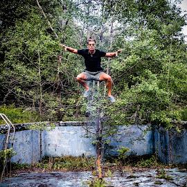 Rising by Matt Horspool - Digital Art People ( flying, rising, levitation, edit, floating, fire, photoshop )