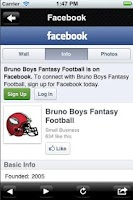 Screenshot of Bruno Boys Fantasy Football
