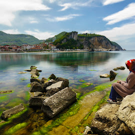 Amasra Harbor by Hasim Sahin - Landscapes Waterscapes ( black sea, long exposure, turkey, amasra, bartin )