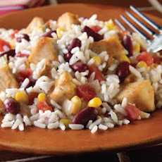 Southwestern Chicken and White Rice