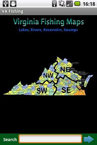 Virginia Fishing Maps - 10K
