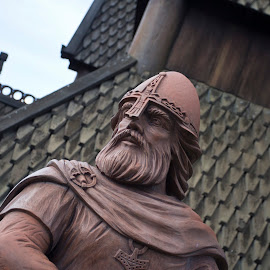 Norse Warrior by Rob Voege - Buildings & Architecture Statues & Monuments