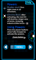 Screenshot of ChromaBurst Brick Breaker Free