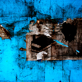 abstract and blue by Baptiste Riethmann - Abstract Patterns ( abstract, urban, blue, art, abstract photography, photo, photography )