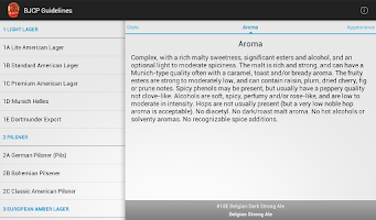 Screenshot of BJCP Style Guidelines