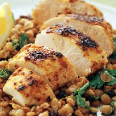 Frugal Gourmet's Chicken and Lentils Middle Eastern Style