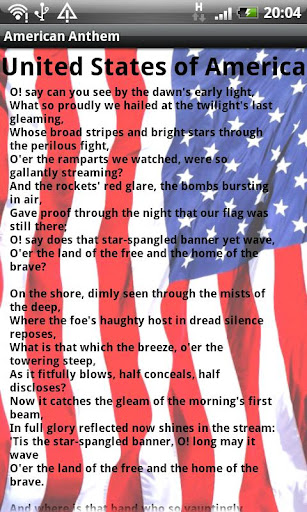 American National Anthem