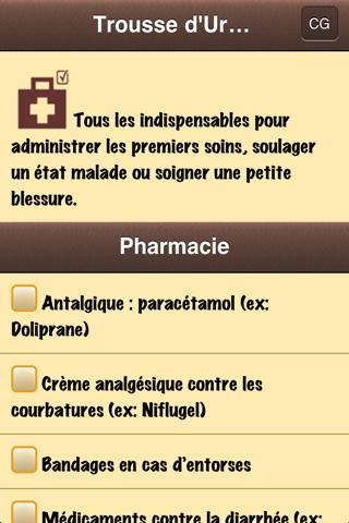 Trousse d'Urgence