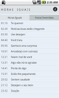 Screenshot of Horas Iguais