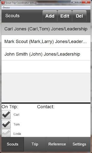 Scout Trip Coordinator